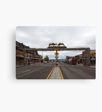 World's Largest Elkhorn Arch Canvas Print