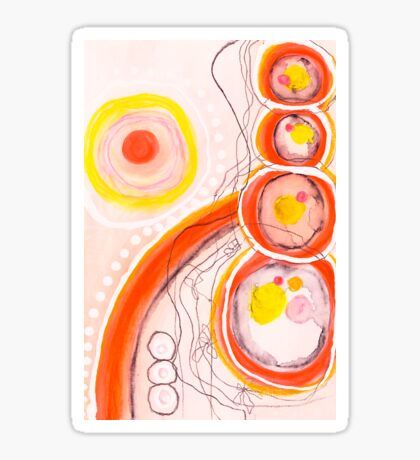 Orange Stones Sticker