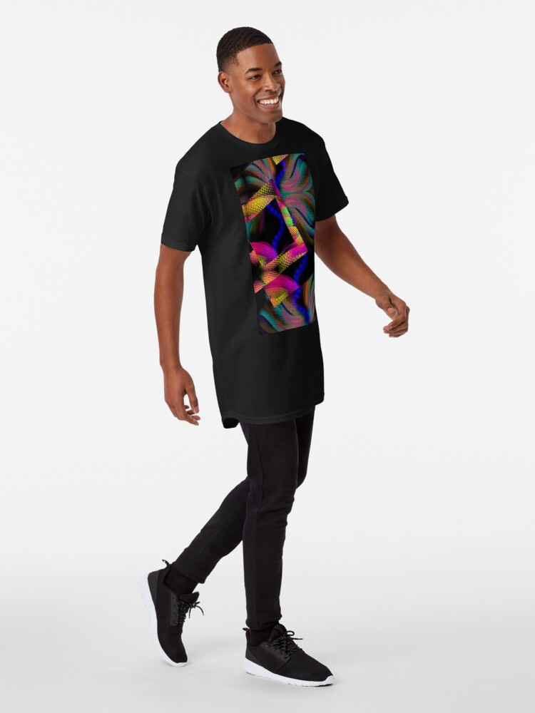 Alternate view of Whimsical Majestic Sea Abstract design Long T-Shirt