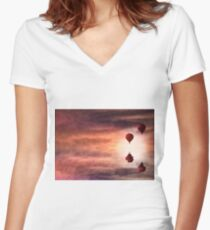 Tranquil times Women's Fitted V-Neck T-Shirt