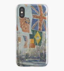 Avenue of the Allies Great Britain 1918 1916 Frederick Childe Hassam iPhone Case/Skin