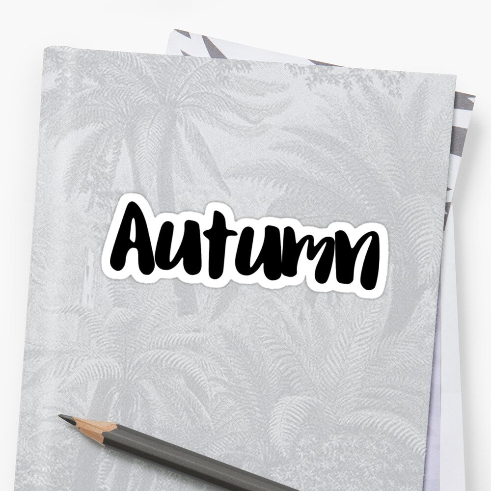 Autumn Sticker Front