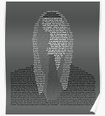 Eminem Lyric Portrait Poster