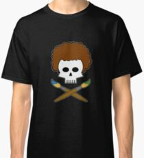 Bob Ross Skull Classic T-Shirt