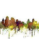 Kansas City, Kansas Skyline - Safari Buff von Marlene Watson