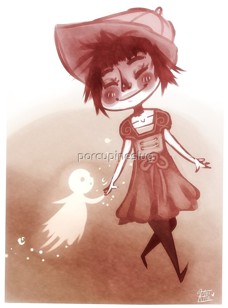 Girl and her ghost by porcupineslug