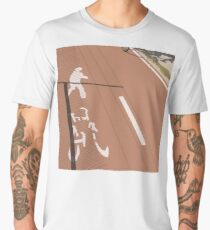 0152 Pedestrian and cycle path Men's Premium T-Shirt