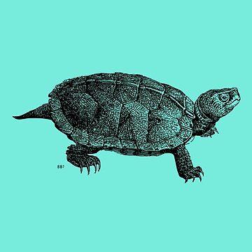 Turtle Victorian Print by JoeStraz