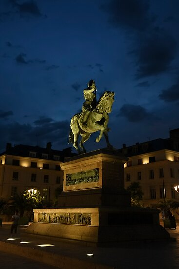 Statue of Joan of Arc in the city centre, Place du Martroi, Orleans, France by PhotoStock-Isra