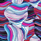 Seamless bright abstract wavy pattern by Tanor
