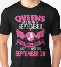 Queens Are Born On September 30 T-Shirt