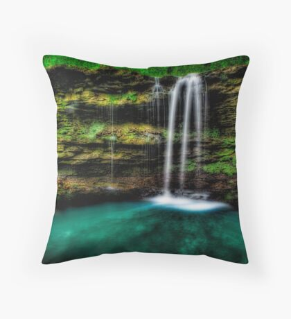 Amber Falls Throw Pillow