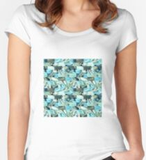 Teal bricks Women's Fitted Scoop T-Shirt