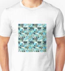 Teal bricks T-Shirt