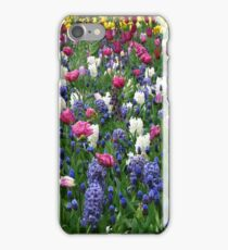 A Riot of Colour - Tulips and Hyacinths iPhone Case/Skin