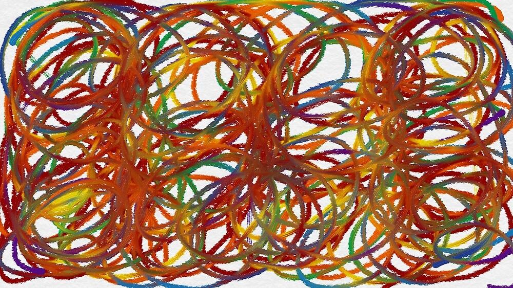 Rainbow swirls by damelibellule