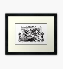 The Stuffed Magpies Framed Print