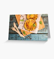 Grilled pineapple slices Greeting Card