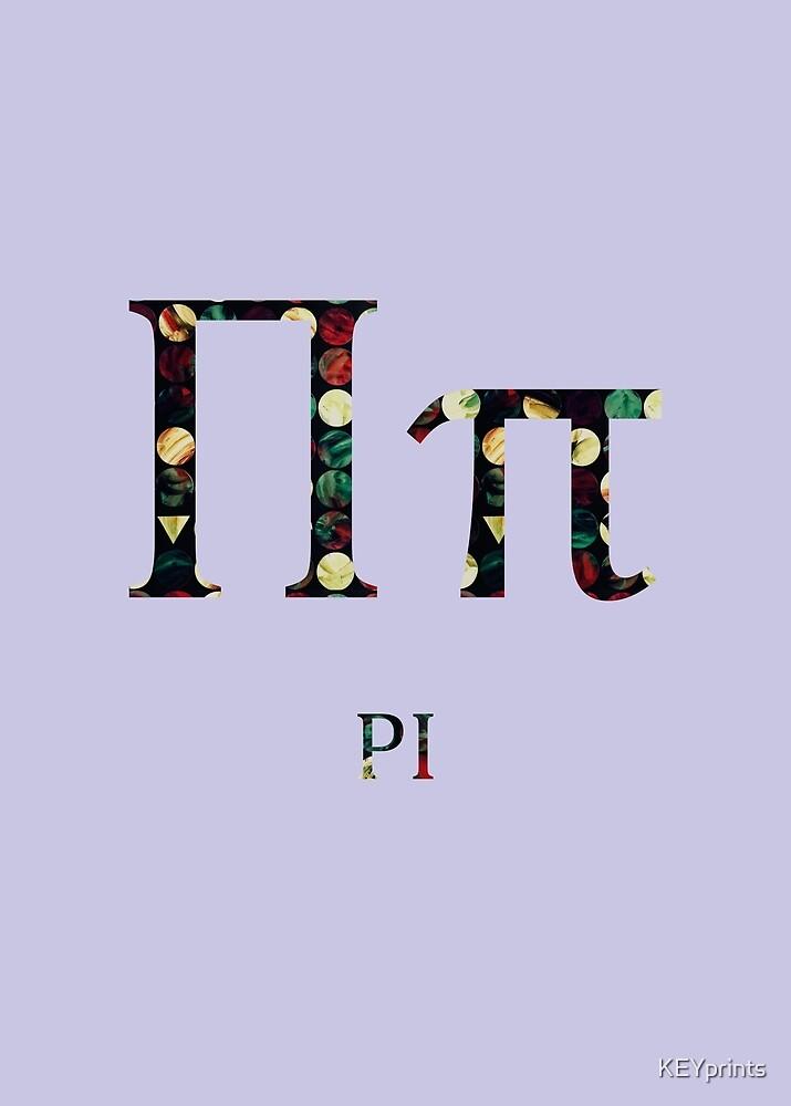 Language of Science Pastels - Violet Pi by KEYprints