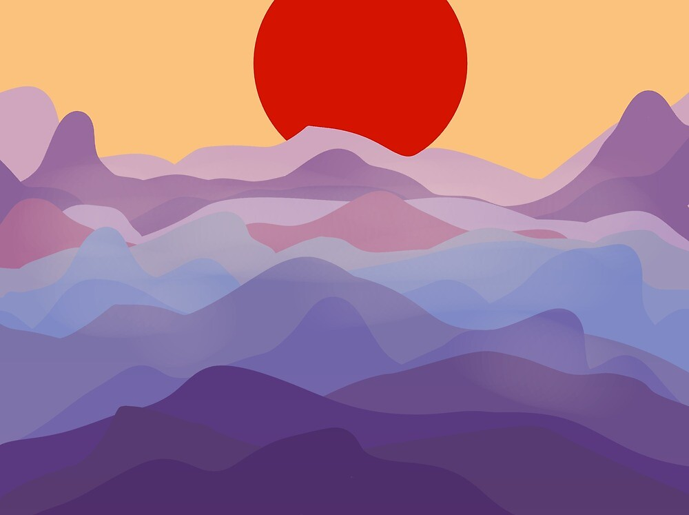 Sunrise Over Mountain Range by Alex Williams