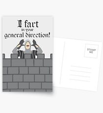 French Taunting Guard Postcards