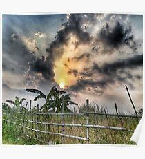 Sunset Photography Dark Rural Creepy Spooky Design Poster