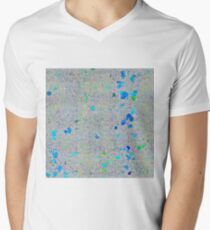 psychedelic abstract art texture background in blue green yellow T-Shirt