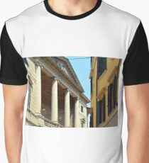 Italian buildings with columns, decorative windows and shutters  Graphic T-Shirt