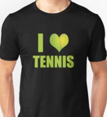 Awesome I Love Tennis Sports Tournament T-Shirt