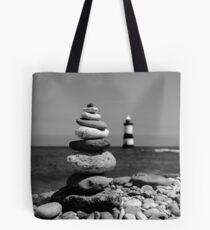 pebble lighthouse Tote Bag