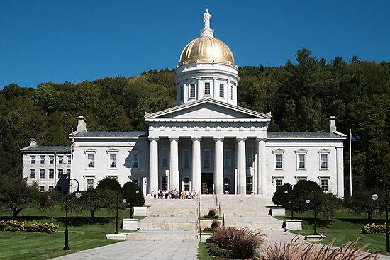 Vermont State House, Montpelier, Vermont, USA  by PhotoStock-Isra
