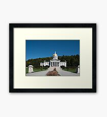 Vermont State House, Montpelier, Vermont, USA  Framed Print