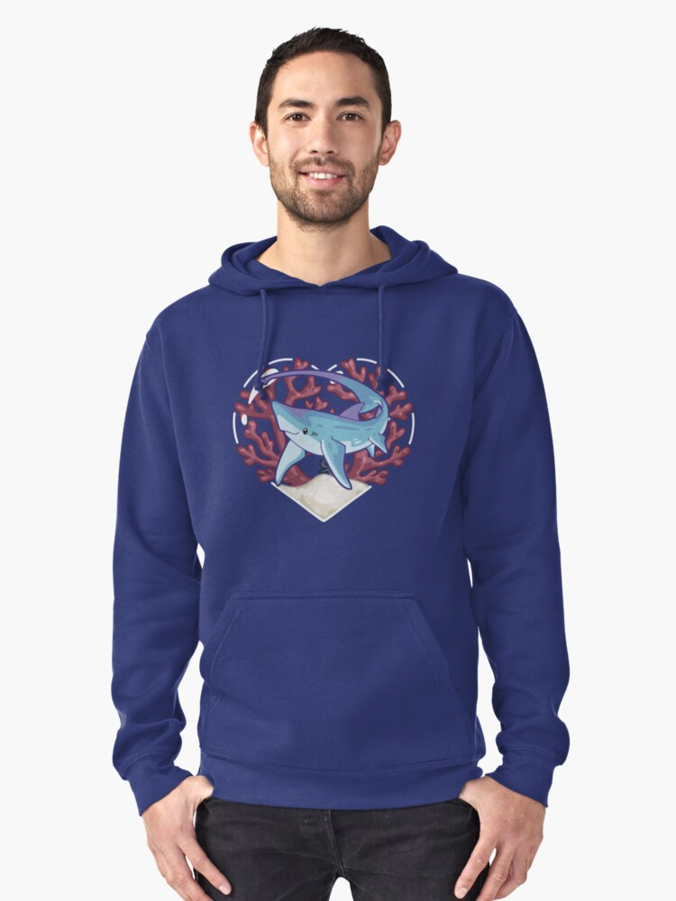 SNAP the Thresher Shark Pullover Hoodie Front