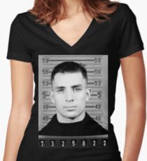 Jack Kerouac mugshot fan art Women's Fitted V-Neck T-Shirt