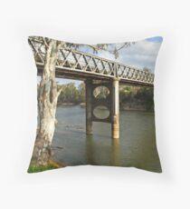 Murray River at Corowa Throw Pillow