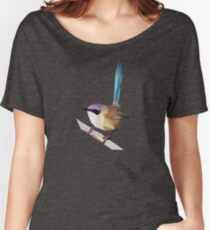 Purple crowned Fairy wren Women's Relaxed Fit T-Shirt