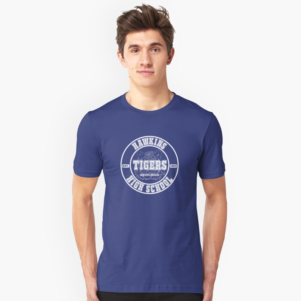 Hawkins High School - Home of the Tigers! Unisex T-Shirt Front
