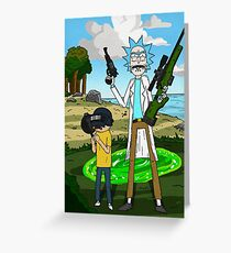 Rick and Morty x Battlegrounds  Greeting Card