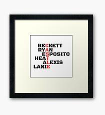 Castle Code Framed Print