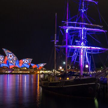 Southern Swan Ship and Sydney Opera House by rossacampbell