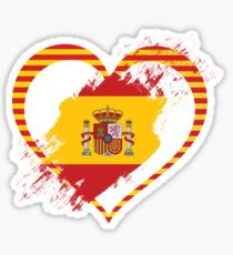 Spain and Catalonia All together Sticker