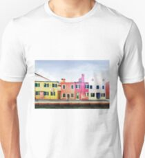 Burano Island near to Venice (Italy) in watercolor T-Shirt