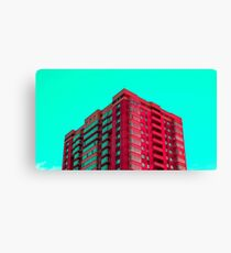 The Red Building Canvas Print