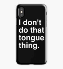 Tongue White iPhone Case/Skin