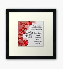 Tears to Diamonds — George Watsky Framed Print