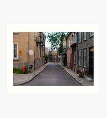 Old Quebec: Early Morning Small Lane Art Print