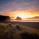 Piha Sunset  by earlcooknz