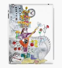 girl with birthday cake on his head playing guitar, a birthday feast iPad Case/Skin