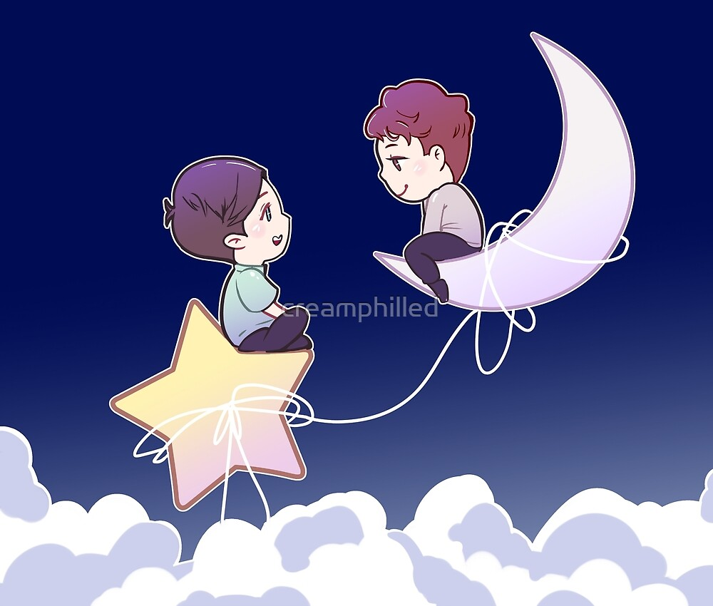 Dan and Phil in the Sky  by creamphilled