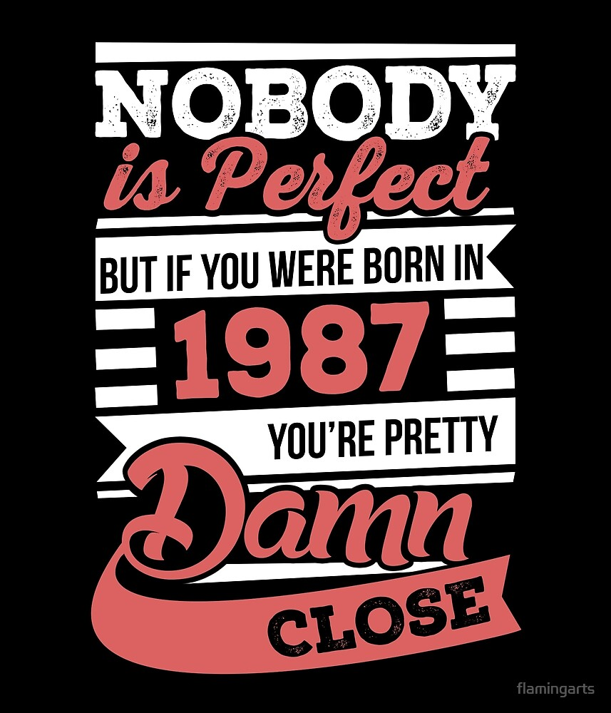 Nobody is perfect but if you were born in 1987 by flamingarts